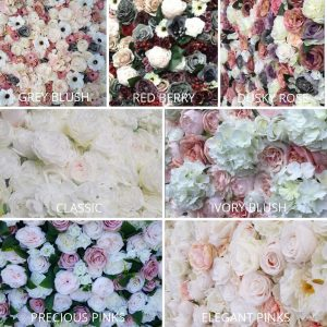 Collage of flower wall images