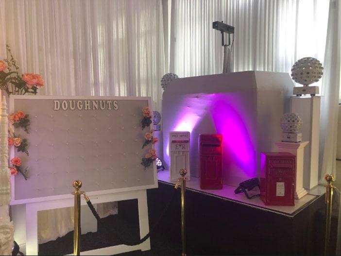 Replica Post Box Disco Lights Norwich Showroom