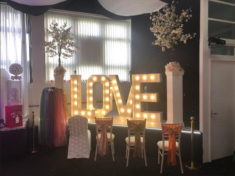 Giant Love Letters Norwich Showroom