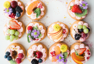 Fresh fruit pastries for Spring Wedding