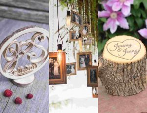 personalized rustic wedding