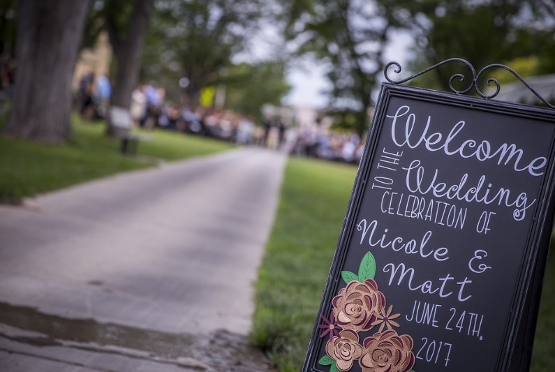 wedding-sign-welcome